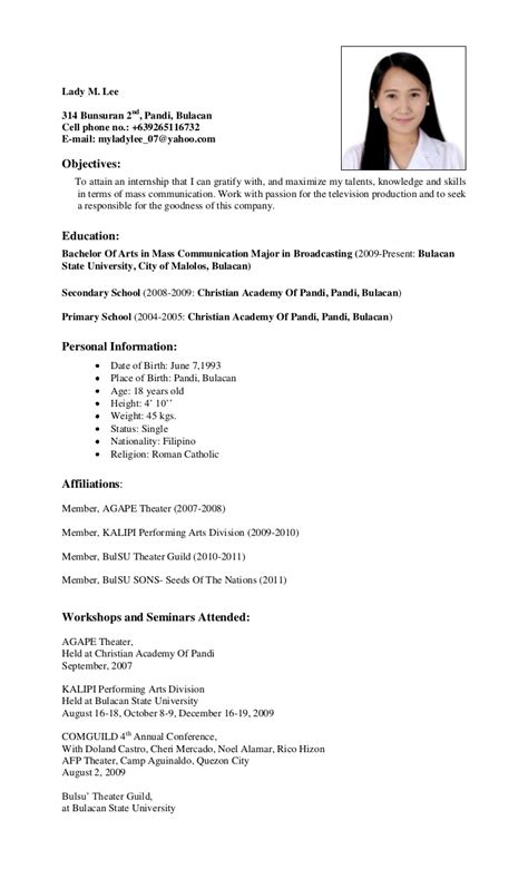 Bshrm graduate resume scribd jpg 768x1265