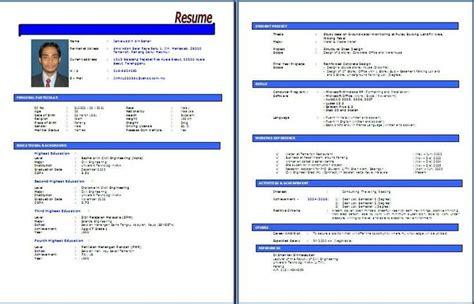 Contoh resume permohonan kerja dan format lengkap jpg 736x473